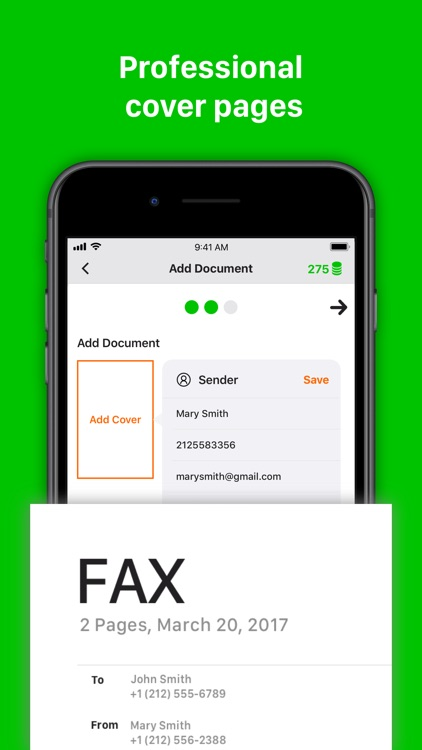 Tiny Fax: send fax from iPhone screenshot-3