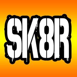 Skateboarding Text Stickers