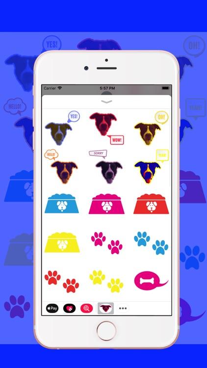 Staffy Terrier Emoji screenshot-3