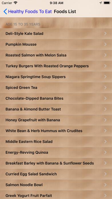 Healthy Foods To Eat screenshot three