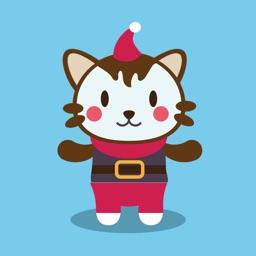 Snow Christmas Cartoon Sticker