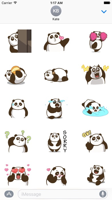 Animated Chubby Panda Sticker