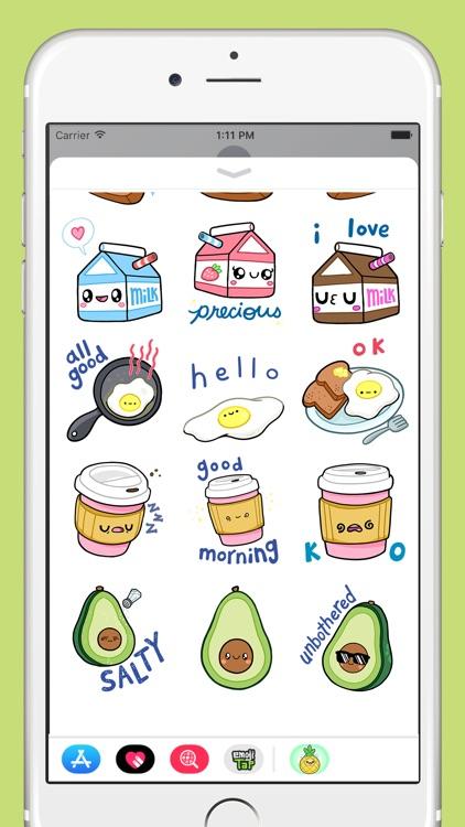 Comfort Food Stickers screenshot-3