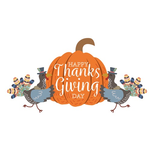 Happy Thanksgiving Day Sticker