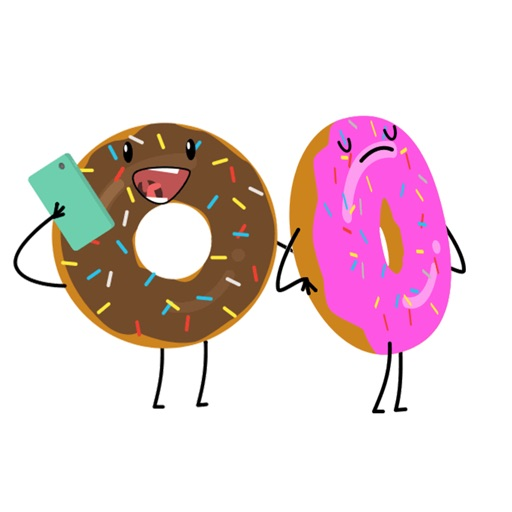 Donut Moji - Animated Doughnut stickers and emojis