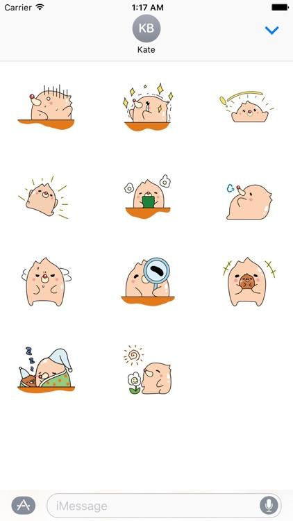 Pink Groundhog Emoji Sticker