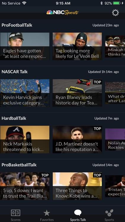 NBC Sports Scores screenshot-4