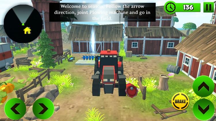 Block Farming Tractor Sim