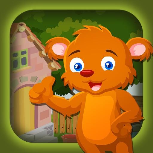 Cartoon Mongoose Escape Game - start a challenge