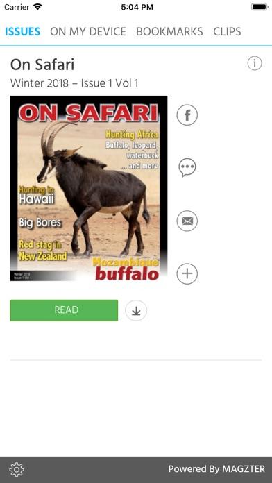 On Safari Magazine screenshot 1