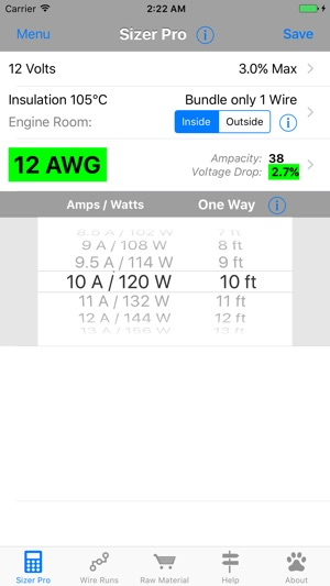 Dc wire sizer on the app store screenshots keyboard keysfo