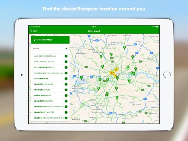 Europcar Car Van Hire On The App Store