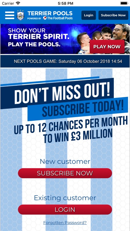 Terrier Pools by THE FOOTBALL POOLS LIMITED
