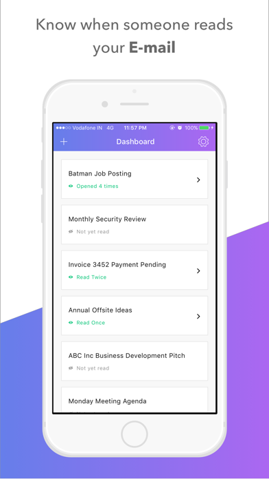 Mail Tracker - Email Tracking screenshot one