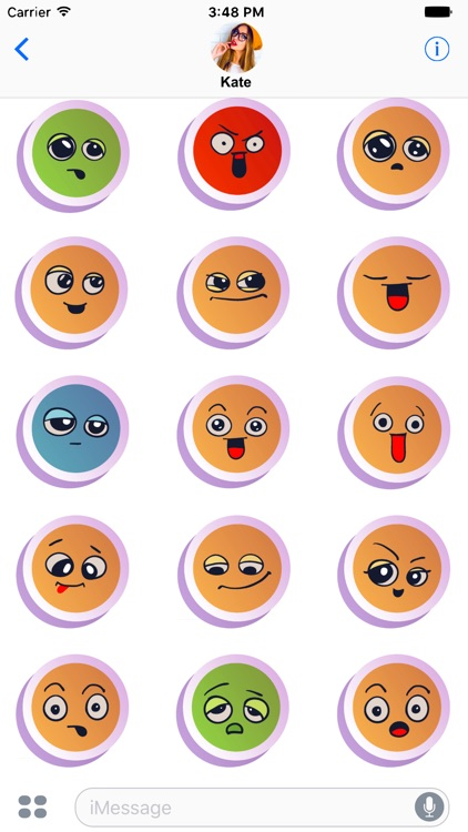 Cute Emoticons Sticker Fun!