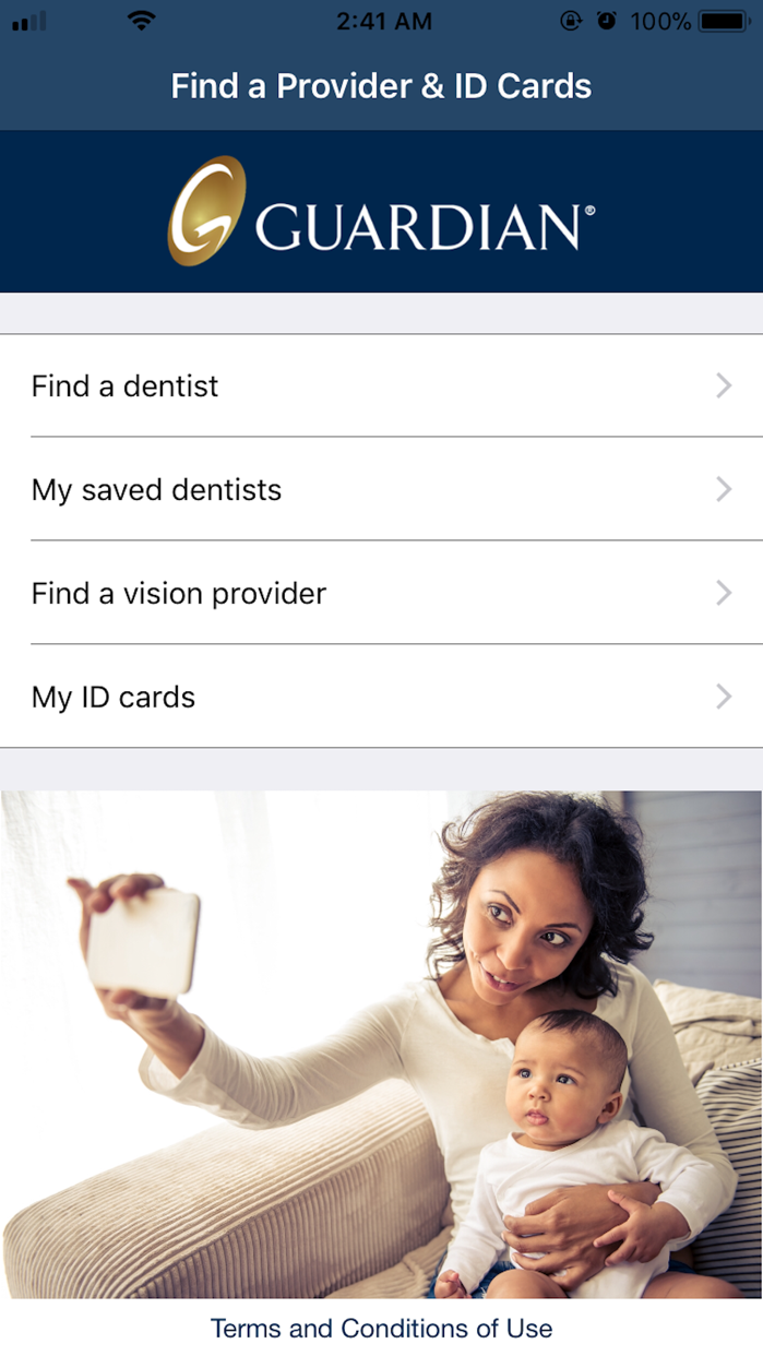 Find a Provider & ID Cards Screenshot