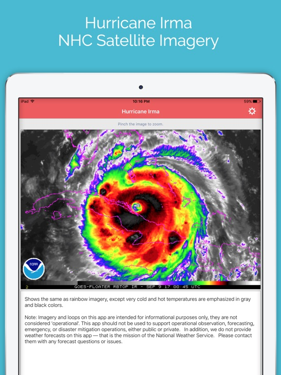 Hurricane Irma - NHC Satellite Imagery Tracker screenshot 5