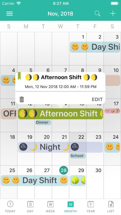 Screen Shot ShiftView - Shift Calender app 1