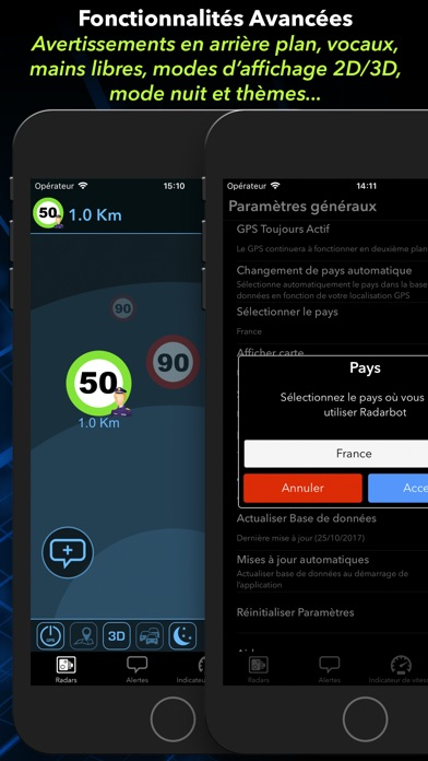 radarbot d tecteur radars gps 2 5 pour ios android windows phone. Black Bedroom Furniture Sets. Home Design Ideas