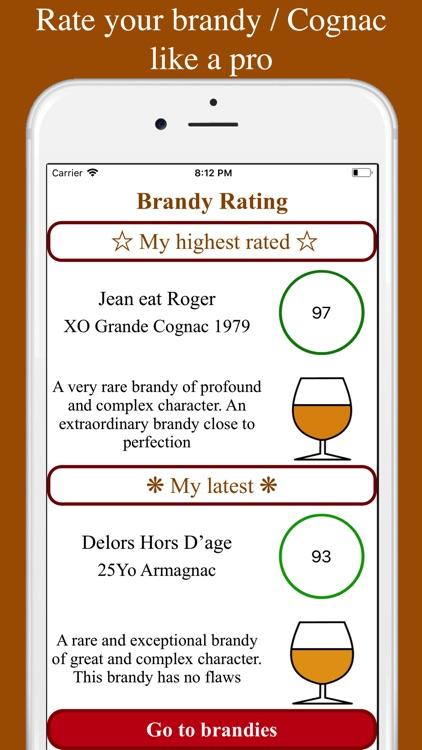 Brandy and Cognac tasting