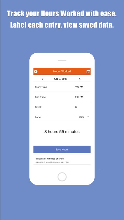 Hours Worked Time Tracker screenshot-0