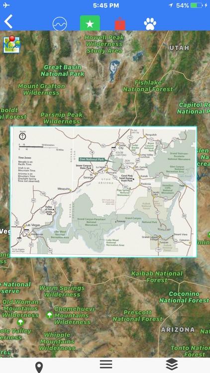 Zion National Park Tour Maps