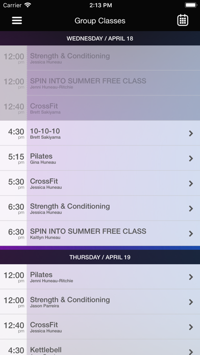 Synergee Fitness screenshot three