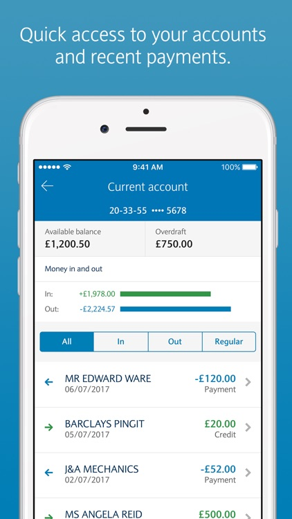Barclays Mobile Banking screenshot-2