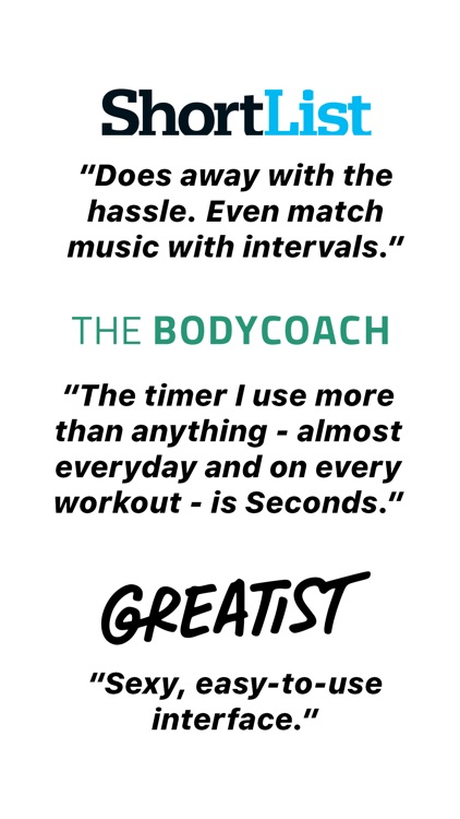 Seconds - Interval Timer HIIT