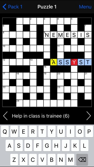 crossword clue crack open