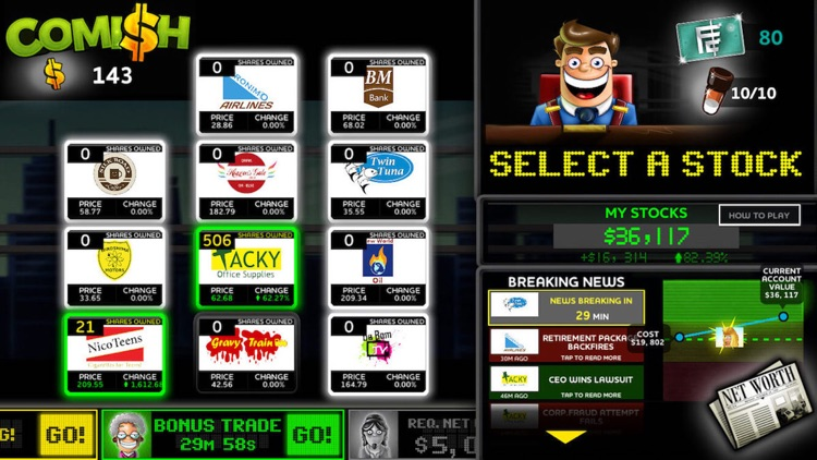 Comish - The Stockbroker Sim! screenshot-2