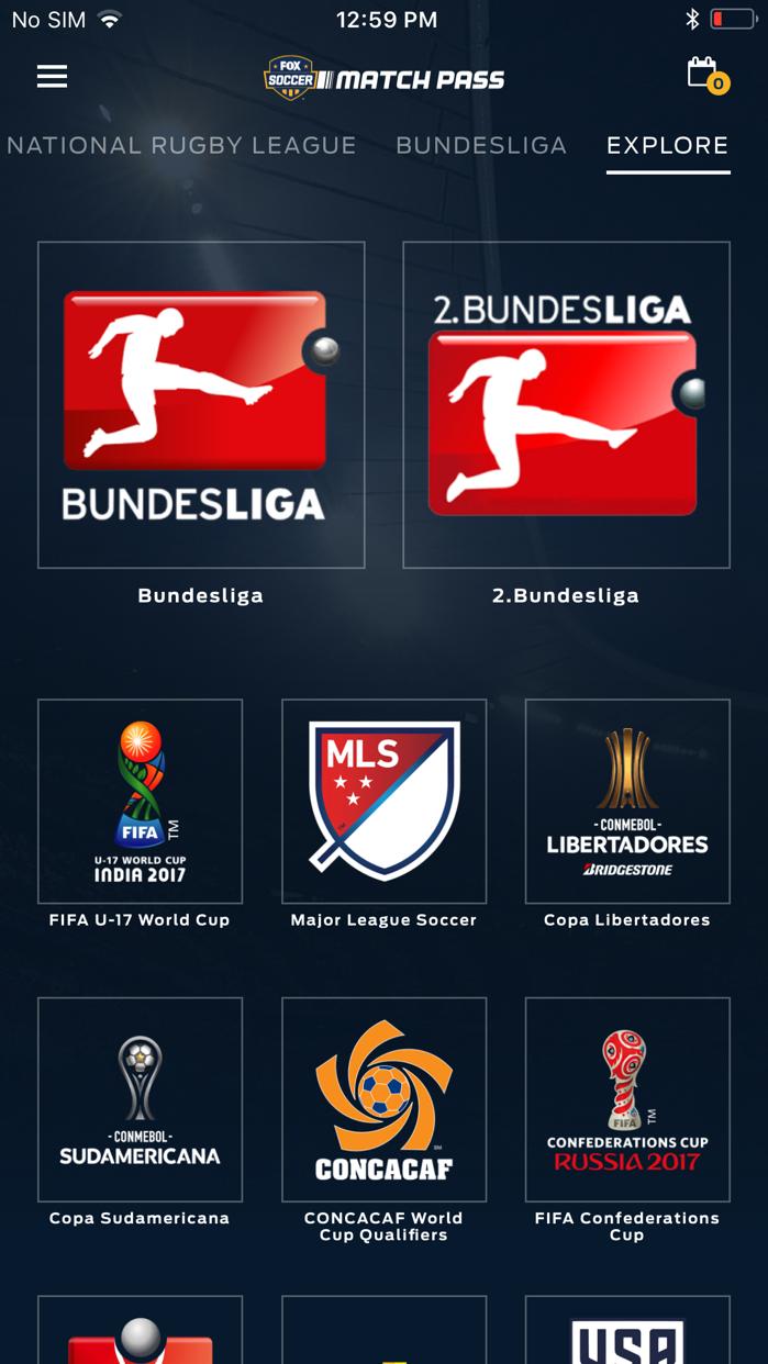 FOX Soccer Match Pass Screenshot