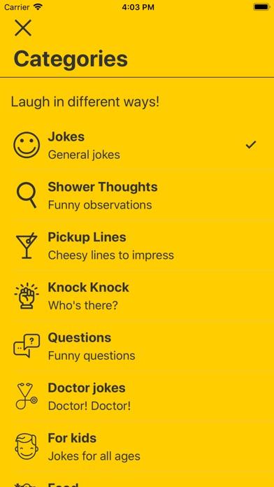 Laugh My App Off (LMAO)- Jokes Screenshots