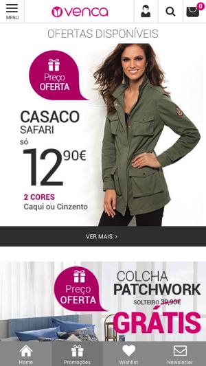 Promoções em casacos Compre online na Venca Página 2
