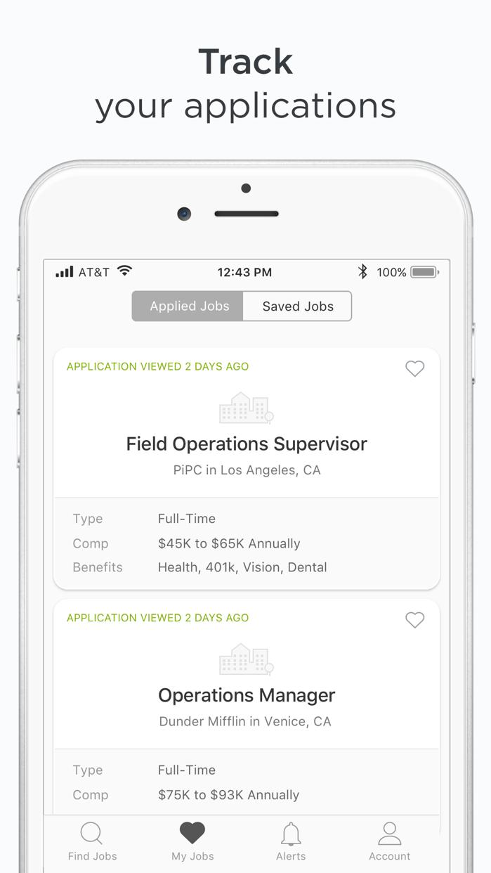 ZipRecruiter Job Search Screenshot