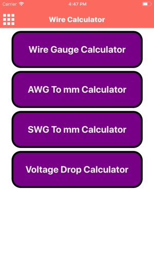 Wire calculator on the app store greentooth Choice Image