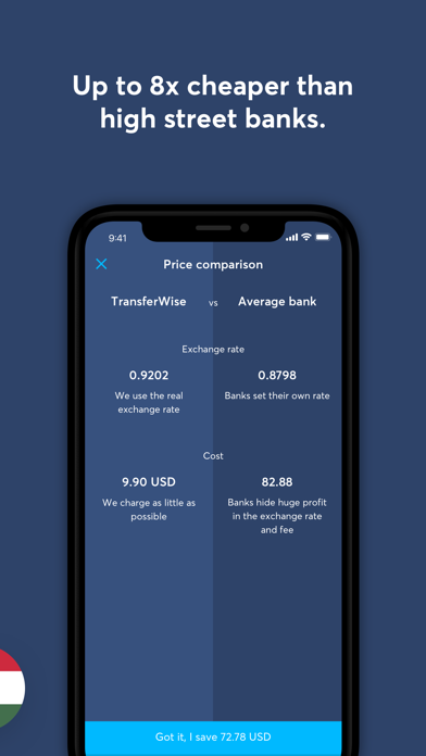 Screenshot 2 for TransferWise's iPhone app'