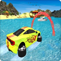 Real Water Surfer Car Driving