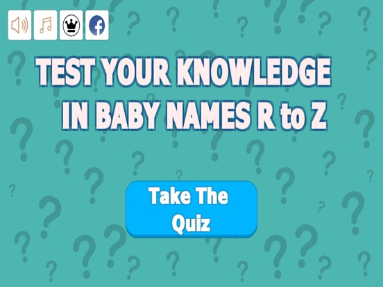 Quiz Your Baby Names R to Z screenshot 5