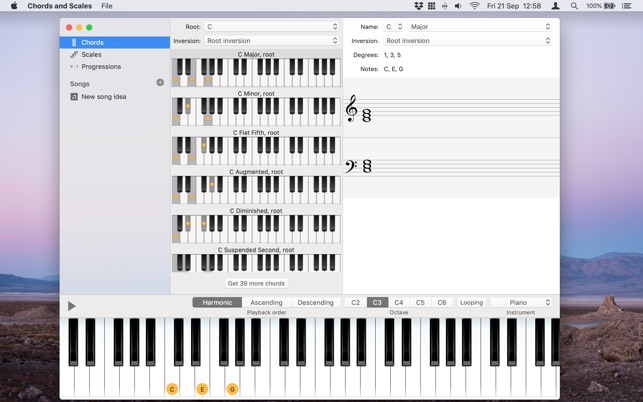 Piano Chords And Scales On The Mac App Store