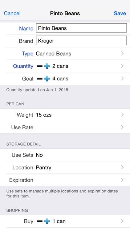 Home Food Storage screenshot-3