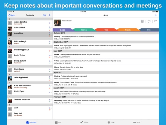 Screenshot #4 pour Contacts Journal CRM Lite