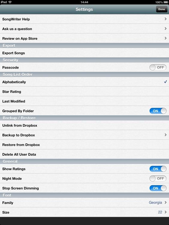 Song-Writer HD L: Write Lyrics screenshot-4