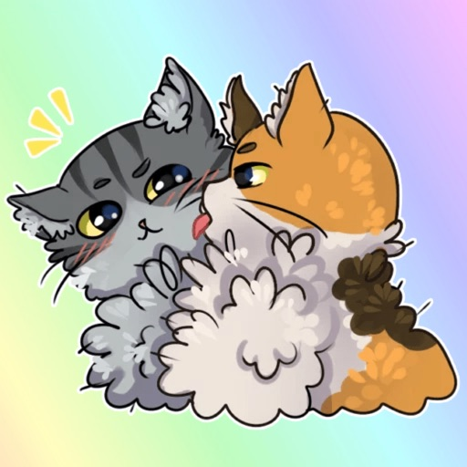 Fluffy Cats! Stickers