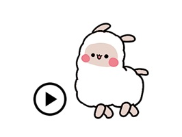 Animated Little Alpaca Sticker