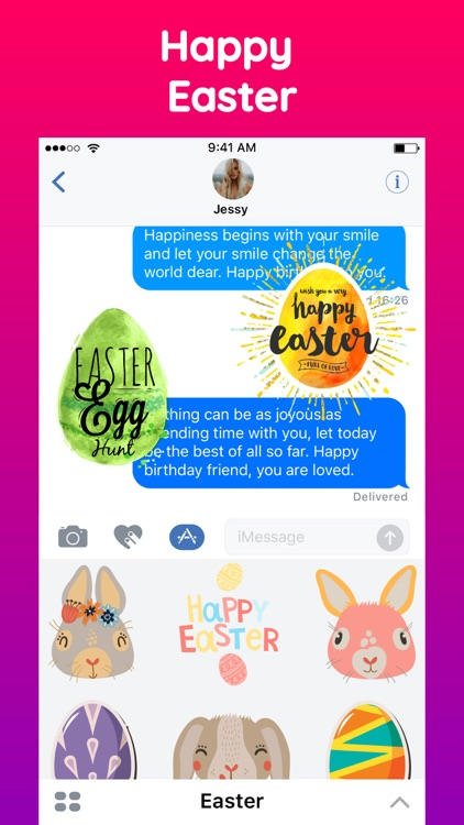 Animated Happy Easter Stickers screenshot-4