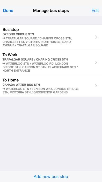 Next Bus Times London