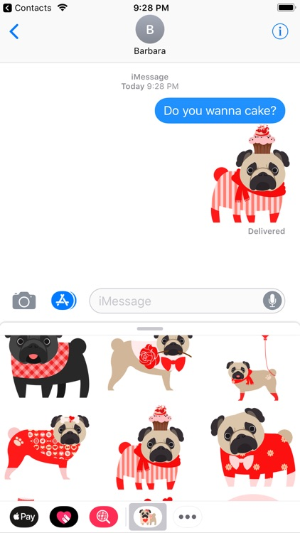 Pug Love Stickers