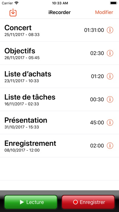 Screenshot #1 pour iRecorder Pro - SimpleTouch