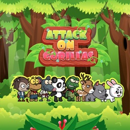Angry animals attack gorillas